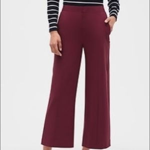 Banana republic burgundy wide leg crop pants